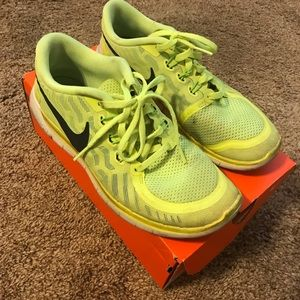 Bright Yellow Nike Fred 5.0 Running Shoes